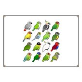16 Birdorable Parrots Banner