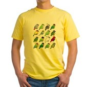 16 Birdorable Parrots Yellow T-Shirt