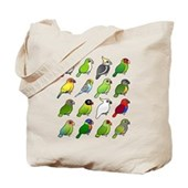 16 Birdorable Parrots Tote Bag