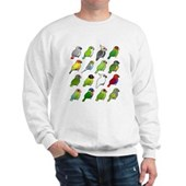 16 Birdorable Parrots Sweatshirt