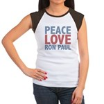 Peace Love Ron Paul Women's Cap Sleeve T-Shirt