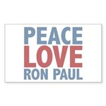 Peace Love Ron Paul Sticker (Rectangle 50 pk)