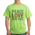 Peace Love Ron Paul Green T-Shirt