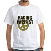 Raging Pacifist White T-Shirt