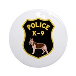 K-9 Badge Ornament (Round)