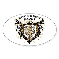 World's Best Daddy Sticker (Oval)