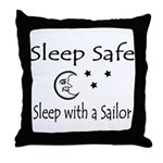 Sleep Safe - Sailor Throw Pillow