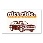 Nice Ride Rectangle Sticker