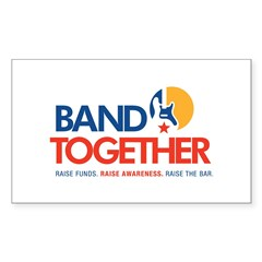 Band Together logo Rectangle Sticker 50 pk)