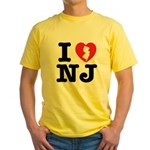 I Love NJ Yellow T-Shirt
