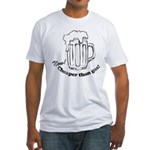 Beer: Now! Cheaper than Gas! Fitted T-Shirt