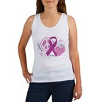 CF Peace Love Cure Women's Tank Top