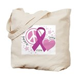 CF Peace Love Cure Tote Bag