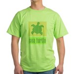 Bar Code Turtle Green T-Shirt
