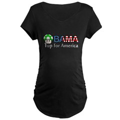 Obama 1up for America Maternity Dark T-Shirt