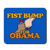 Fist Bump for Obama Mousepad