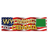 Wyoming for Obama Bumper Sticker
