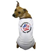 This great Terriers for Obama dog t-shirt lets your dog show support for Barack Obama! A paw print is filled in w/ stars & stripes. A great Obama dog t-shirt for patriotic Democratic pooches!