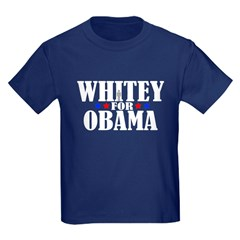 Whitey For Obama Kids Dark T-Shirt