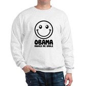 Obama Makes Me Smile Sweatshirt