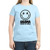 Obama Makes Me Smile Women's Light T-Shirt