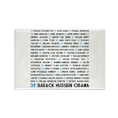 This design lists all of the men who have held the office of President of the United States, through #44 who will take office in January 2009: President Barack Obama. An educational pro-Obama design!
