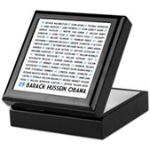 All Presidents up to Obama Keepsake Box