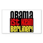 Obama Ist Kein Berliner! Sticker (Rectangle)