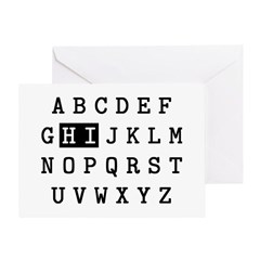 Alphabet Hi Greeting Card