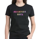 Autistics Rock Women's Dark T-Shirt
