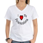 I Heart My Perseverations Women's V-Neck T-Shirt