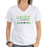 Normal Autistic Women's V-Neck T-Shirt