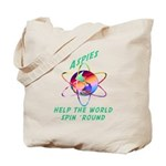 Aspies Spin the World Tote Bag
