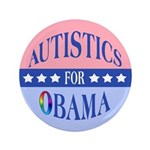 "Autistics for Obama 3.5"" Button"