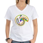 Cure Ignorance (Rainbow) Women's V-Neck T-Shirt