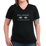 Eye Contact Women's V-Neck Dark T-Shirt