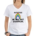 We Will Not Disappear Women's V-Neck T-Shirt