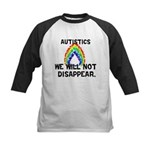We Will Not Disappear Kids Baseball Jersey