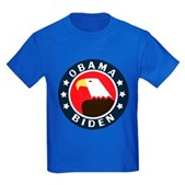 Obama-Biden Eagle Kids Dark T-Shirt