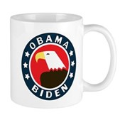 A stylized American Bald Eagle is in the middle of this round Obama-Biden design. Show your support for this historic Presidential bid with this classic, clean and patriotic pro-Obama & Biden design.