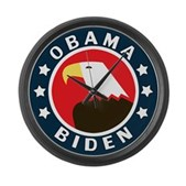 Obama-Biden Eagle Large Wall Clock
