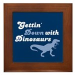 Gettin' Down With Dinosaurs Framed Tile