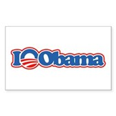 I Love Obama Rectangle Sticker