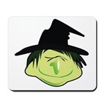 Happy Green Witch Mousepad