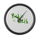 Bad Witch Large Wall Clock