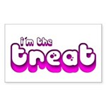 Retro I'm the Treat Rectangle Sticker (Rectangle)