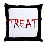 Bloody Treat Throw Pillow