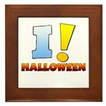 I ! Halloween Framed Tile