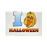 I Love Halloween Rectangle Magnet