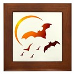 Flying Vampire Bats Framed Tile